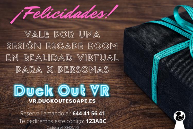Bono Regalo Duck Out VR